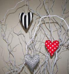 Silver Red White Polka Dot Black White Stripes by MIKOMEdecoration