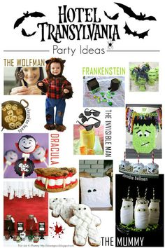 These Hotel Transylvania Party Ideas are perfect for a Halloween party but are also great for a themed birthday party!