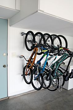 Easy and functional bike storage ideas from @iheartorganize