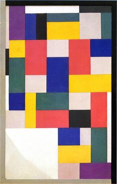 theo van doesburg / pure painting / 1920 / oil on canvas