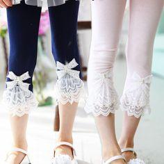 2016 Summer Children Leggings For Girls Kids Leggings Girls Lace knee Pants Girl Pants Kids Baby Trousers Fashion Kids, Baby Girl Fashion, Toddler Pants, Kids Pants, Kids Dress Patterns, Girls In Leggings, Lace Leggings, Lace Pants, Matching Family Outfits