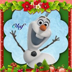 Olaf a playfull snowman colage
