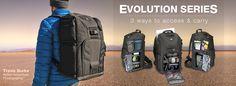 "Tamrac ""Evolution"" Serie Fotorucksack  http://www.tamrac.com/products/evolution8/"