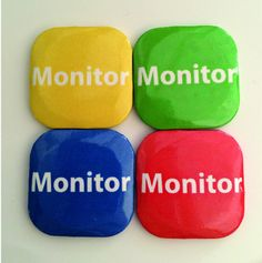32mm Square Button Badge - Monitor – London Emblem
