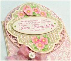 Close up Of Debbie Olson card using True Friends Vintage Labels Four