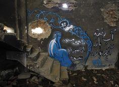Graffiti en pro de paz: Shamsia Hassani - (Shamsia nació en 1988 en Irán. Es una artista de graffiti, y además profesora en la Facultad de Bellas Artes de la Universidad de Kabul.)