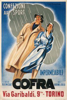 Impermeabili Cofra - Marcello Dudovich - 1946