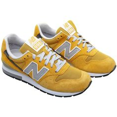 New Balance Model 996 sneakers (455 BRL) ❤ liked on Polyvore featuring shoes, sneakers, footwear, shoes - sneakers, yellow, new balance trainers, new balance footwear, yellow shoes, new balance and new balance shoes