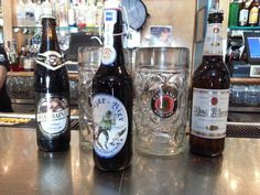 Our selection of German beers at Bermuda Bistro at The Beach.