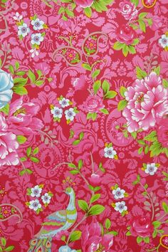 Picture of Flowers in the Mix wallpaper red