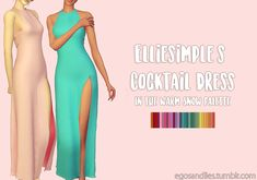 (A special thanks goes out to @elliesimple for telling me why this wouldn't post, lol) I've recolored @elliesimple's Cocktail Dress in my Warm Snow Palette. Note: THE MESH IS NEEDED. Download...