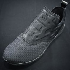 The Reebok Furylite slip on in triple black - a lightweight laceless slip on built with comfort in mind. A woven textile forefoot for fit and flexibility with an EVA midsole and a carbon rubber outsole for durability and traction. In store and online now - 67.  #reebok #furylite #slipon #trainers #sneakers #ignsneakerscommunity #tripleblack #allblack #woven #weave #philipbrownemenswear