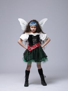 Zarina costume- skirt with tulle under plaid material- make plaid slit in front to show tulle, faux leather belt