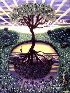 Tree Of Life Painting  - Tree Of Life Fine Art Print by Victoria Christian