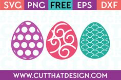 Free SVG Cutting Files | Easter Egg Designs Set Polka Dot, Scallop and Swirl Patterns