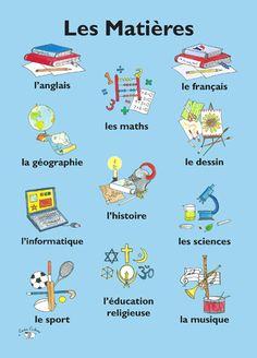 Les Matières - Little Linguist