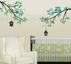 Owl Wall Decal for Baby Nursery