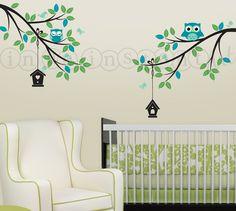 Owl Wall for Baby Nursery