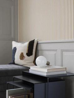 Ferm Living Thin Lines Wallpaper - Mustard/Off White