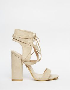 Daisy Street | Daisy Street Block Heel Lace Up Heeled Sandals at ASOS