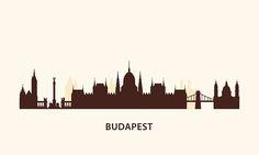 Budapest Skyline silhouette – Vektorgrafik
