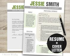 Resume Template  Resume and Cover Letter by BusinessBranding, $15.00