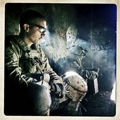 Amazing photos taken by a Marine with his iPhone in Afghanistan. Photo from [Basetrack.org]. Gripping Images...