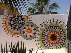 Door Murals, Mural Wall Art, Outdoor Wall Art, Fence Art, Bohemian House, Art File, Backyard Projects, Bar, Paint Designs
