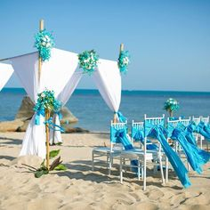 Samui Wedding | at Royal Beach Boutique Resort & Spa | Lamai Beach | Koh Samui | Thailand All things blue... with the blue sea as backdrop ~Romance in paradise at Royal Beach Samui #samuiwedding #royalbeachsamui #beachwedding #kohsamui #samui #thailand #thailandweddingexpert #thailandwedding
