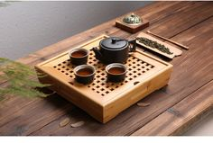 Forest Homes - Products - Farguesia Tea Tray / Bamboo Trays