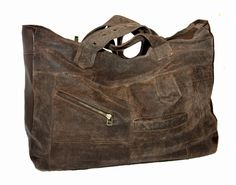 Uptown Redesigns leather bag from leather coat