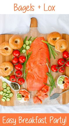 This Bagels and Lox breakfast spread is quick and…