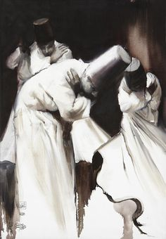 """#4. """"Spirituality in Motion"""" by Hossein Irandoust / Darvish series from the / Courtesy of Pro Art Gallery and the Artist. http://islamicartsmagazine.com/magazine/view/exploring_spirituality_in_motion_during_art_dubai/"""