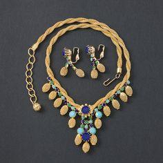 Vintage Signed  Hobe Egyptian Revival Demi Parure by ShinyShelly