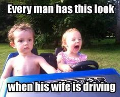 I'm sure this was your face when I was driving the golf cart when we first went golfing! lmao Because this sure was mine hahahaha