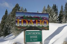 Idaho Welcome Sign http://tomsheck.com/view23430.jpg