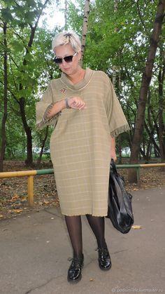 Стильное платье Street-fashion из хлопка – купить в интернет-магазине на Ярмарке Мастеров с доставкой