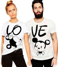 Couple T-shirts set LOVE couple T-shirts custom couple shirts Love you tshirt. - Love Shirts - Ideas of Love Shirts - - El amor pareja camisetas conjunto de conjunto de Cute Couple Shirts, Couple Tees, Couples Assortis, Matching Couples, T-shirt Paar, T-shirt Couple, Disney Couple Shirts, T Shirt Designs, Couple Outfits