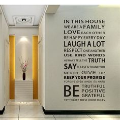 <b>Features</b><ul><li>Family House RulesWallArt Quote Wall Stickers</li><li>Pvc</li><li>These peel and stick wall decal will go on any smooth flat dry clean surface, so you can even decorate furniture, doors, windows, floors, tables</li><li>No sticky residue is left behind and certainly no repainting</li><li>Instantly removable, repositionable and reusable, with no harm or damage to the surface</li><li>Can be placed on the wall, fridge, tile and any other hard surface places</li><li>No…