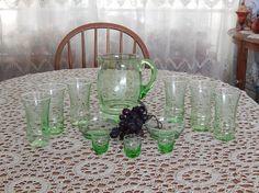 Vaseline Uranium Green Depression era glass by CraftyPenguin2