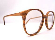 d1e200ed4153 WOOD Eyeglasses by Chic Optical 1980s Real wood by ifoundgallery