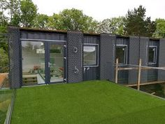 Best Prefab Modular Shipping Container Homes: Beautiful ft Shipping Container House with Internal Insulation and Double-Skin Facade, Sweden Shipping Container Design, Container House Design, Shipping Containers, Container Office, Cargo Container, Sea Container Homes, Storage Container Homes, Container Store, Double Skin