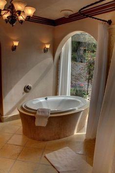 Master Bath with garden views - Central Coast California vacation rental