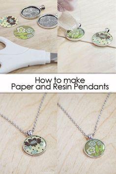 Paper Jewelry, Wire Jewelry, Jewelry Crafts, Beaded Jewelry, Jewelry Ideas, Resin Crafts, Resin Jewelry Making, Resin Jewlery, Silver Jewelry