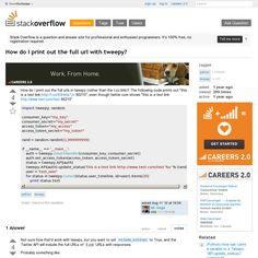 Website 'http://stackoverflow.com/questions/11917184/how-do-i-print-out-the-full-url-with-tweepy' snapped on Snapito!