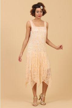 0beb4b716f The Salmon Clara 20 s Flapper Dress 20s Flapper