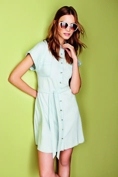 A denim shirt dress is on our summer shopping list!