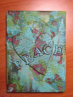 Peaceful heart, Mixed Media Canvas Art