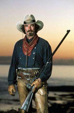 "Ya gotta love a cowboy! Tom Selleck als ""Quigley, der Australier"" Tom Selleck, O Cowboy, Cowboy Girl, Western Cowboy, I Movie, Movie Stars, Films Cinema, The Lone Ranger, Great Western"
