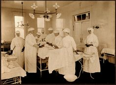 Surgery at St. Vincent Hospital, Portland, Oregon, 1914 by Providence Archives, Seattle, via Flickr